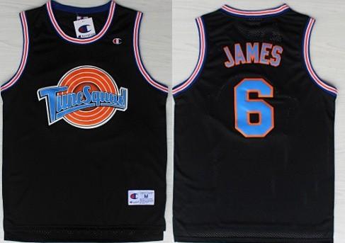 official photos 470ad 9ed2b NBA Space Jam #6 LeBron James Black Swingman Jersey on sale ...