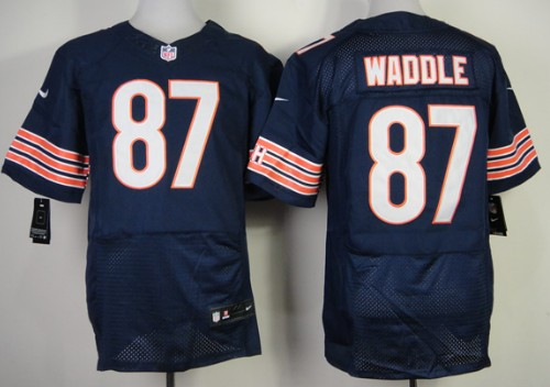 buy popular 8f931 6b389 Nike Chicago Bears #87 Tom Waddle Blue Elite Jersey on sale ...