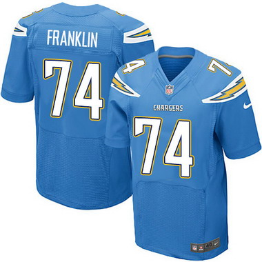 Wholesale Men's San Diego Chargers #74 Orlando Franklin Light Blue Alternate  for sale