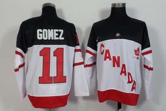 2014-15 Men's Team Canada #11 Scott Gomez Retired Player White 100TH Anniversary Jersey