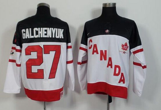 2014-15 Men's Team Canada #27 Alex Galchenyuk White 100TH Anniversary Jersey