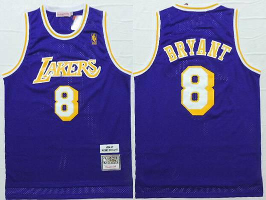 Los Angeles Lakers #8 Kobe Bryant Yellow With Purple Star Swingman ...
