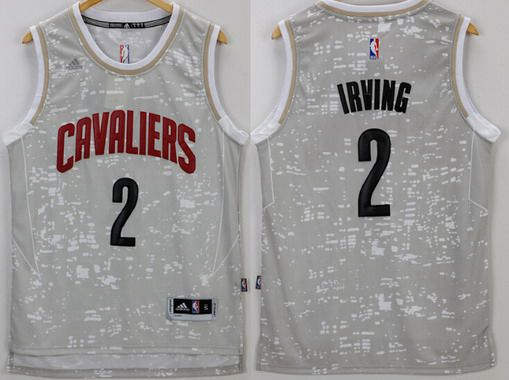huge discount b25ed fb978 Men's Cleveland Cavaliers #2 Kyrie Irving Adidas 2015 Gray ...