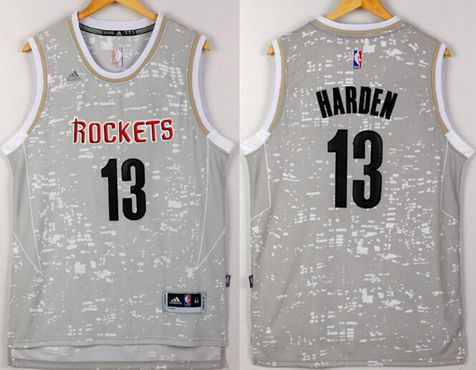 56d244c0e Men s Houston Rockets  13 James Harden Adidas 2015 Gray City Lights  Swingman Jersey