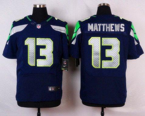 Men's Seattle Seahawks #13 Chris Matthews Navy Blue Team Color NFL ...