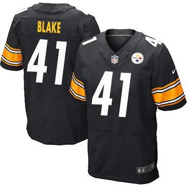 Men's Pittsburgh Steelers #41 Antwon Blake Black Team Color NFL ...