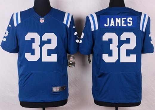 best service 7b7b9 1badf Men's Indianapolis Colts #32 Edgerrin James Royal Blue ...