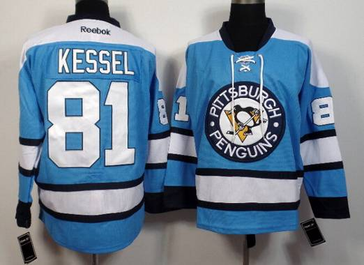 new style 0f007 5bd69 Men's Pittsburgh Penguins #81 Phil Kessel Light Blue Premier ...