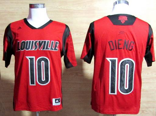 Louisville Cardinals #10 Gorgui Dieng 2013 March Madness Red Jersey