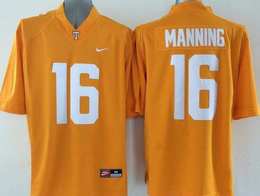 Men's Tennessee Volunteers #16 Peyton Manning Orange 2015 NCAA Football Nike Jersey