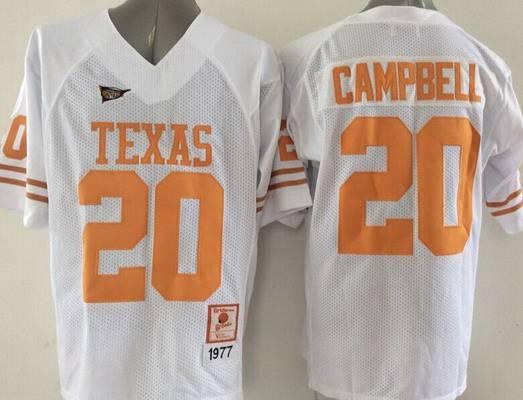 Campbell #20 Texas Longhorns Football Jersey - Orange
