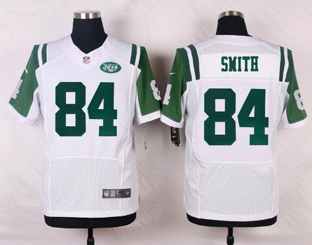 mens new york jets 84 devin smith white road nfl nike elite jersey