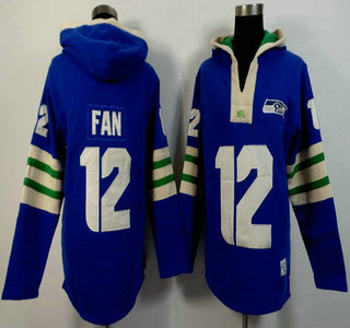 Men's Seattle Seahawks #12 Fan Light Blue 2015 NFL Hoody