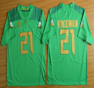 Oregon Duck #21 Royce Freeman Light Green College Football Nike Limited Jersey
