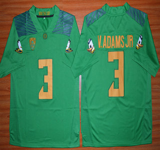 Oregon Duck #3 Vernon Adams Jr Light Green College Football Nike Limited Jersey