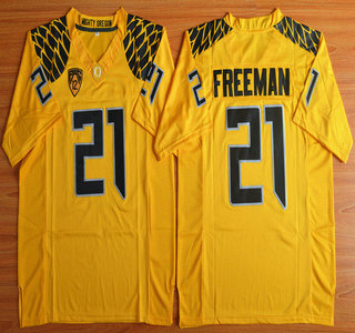 Oregon Duck #21 Royce Freeman Yellow College Football Nike Limited Jersey