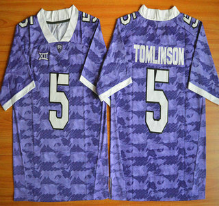 timeless design 34165 25a9f TCU Horned Frogs #5 LaDainian Tomlinson Purple 2015 College ...