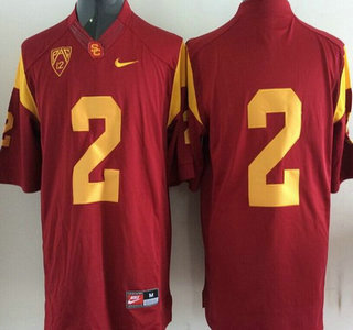 USC Trojans #2 Red 2015 College Football Nike Limited Jersey