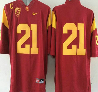 watch 35362 116bd USC Trojans #21 Su'a Cravens Red 2015 College Football Nike ...