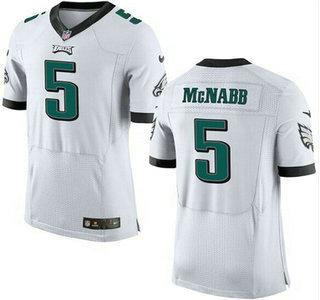 Men's Philadelphia Eagles #5 Donovan McNabb White Retired Player ...