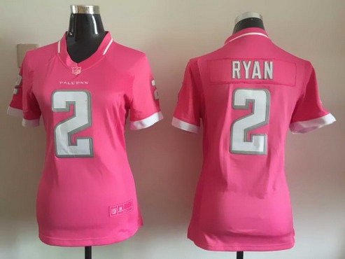womens atlanta falcons 2 matt ryan pink bubble gum 2015 nfl jersey