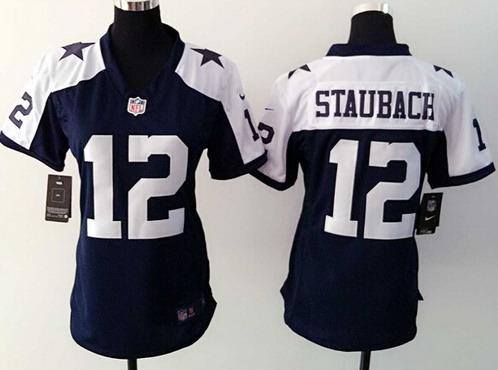 on sale 3de0e 073a8 Women's Dallas Cowboys #12 Roger Staubach Navy Blue ...
