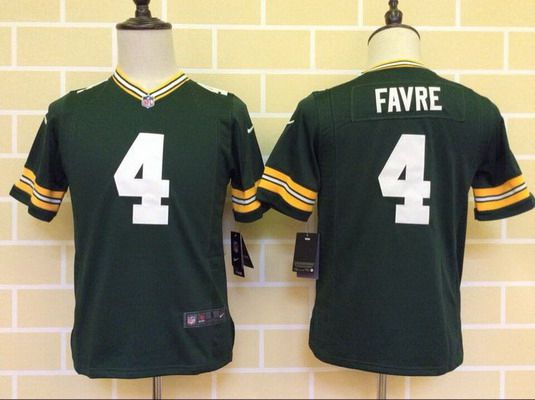 detailed look a7ad3 24e44 Youth Green Bay Packers #4 Brett Favre Green Team Color NFL ...