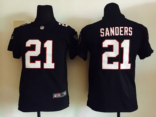 quality design 9ee87 c53b4 Youth Atlanta Falcons #21 Deion Sanders Black Retired Player ...