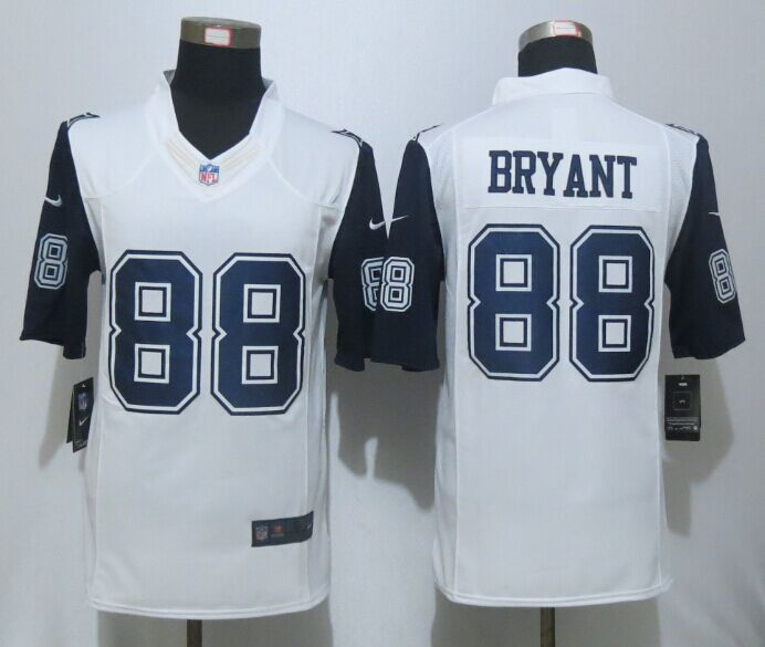 bb72ba6cb Nike Cowboys 88 Dez Bryant White Color Rush Limited Jersey on sale ...