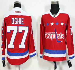 Men s Washington Capitals  77 T.J. Oshie Red Third Reebok Hockey Jersey 8bf7ba046