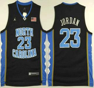 Men's North Carolina Tar Heels #23 Michael Jordan Black College Basketball Swingman Jersey