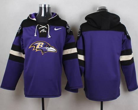 Men's Baltimore Ravens Blank Purple Team Color 2014 NFL Nike Hoodie