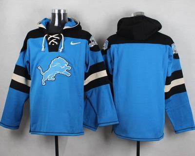 Men's Detroit Lions Blank Light Blue Team Color 2014 NFL Nike Hoodie