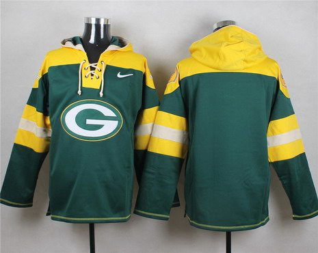 Men's Men's Green Bay Packers Blank Green Team Color 2014 NFL Nike Hoodie
