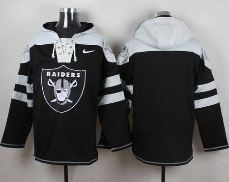 Men's Oakland Raiders Blank Black Team Color 2014 NFL Nike Hoodie