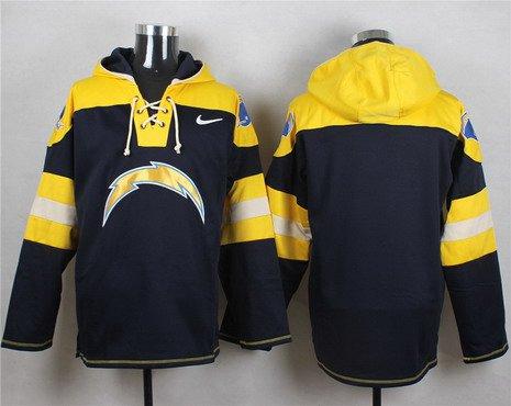 Men's San Diego Chargers Blank Navy Blue Team Color 2014 NFL Nike Hoodie