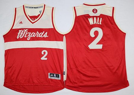 mens washington wizards 2 john wall revolution 30 swingman 2015 christmas day red jersey