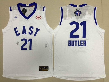 2015-16 NBA Eastern All-Stars Men's #21 Jimmy Butler Revolution 30 Swingman White Jersey
