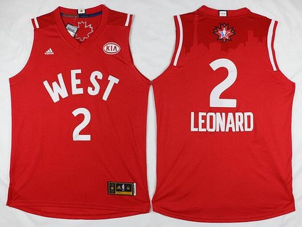 2015-16 NBA Western All-Stars Men's #2 Kawhi Leonard Revolution 30 Swingman Red Jersey