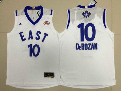 2015-16 NBA Eastern All-Stars Men's #10 Demar DeRozan Revolution 30 Swingman White Jersey