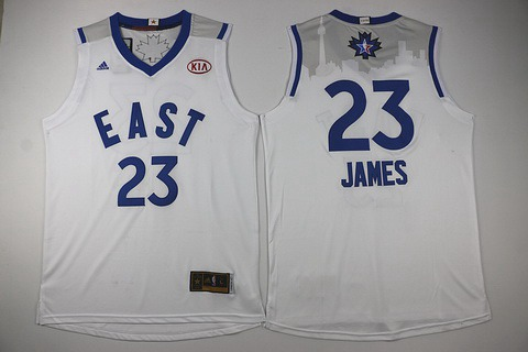 2015-16 NBA Eastern All-Stars Men's #23 LeBron James Revolution 30 Swingman White Jersey