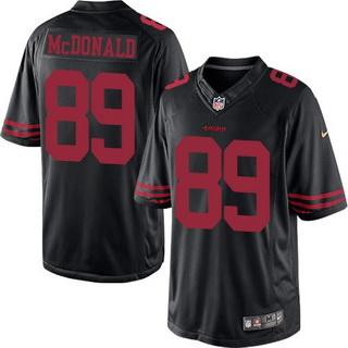 Men s San Francisco 49ers  89 Vance McDonald Black Alternate 2015 NFL Nike  Elite Jersey 89e273370
