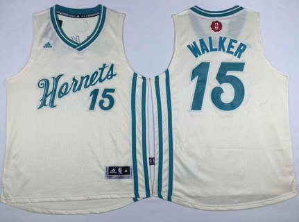 new concept afb23 53bbc Mitchell And Ness Hornets #15 Percy Miller White Throwback ...