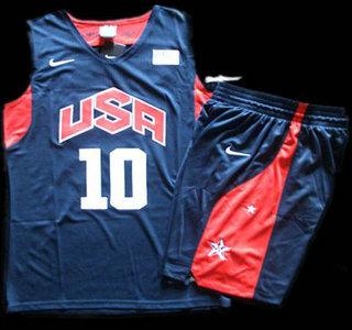 san francisco 142c2 40978 2012 Olympic USA Team #10 Kobe Bryant Blue Basketball ...