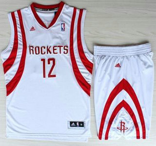 Houston Rockets  12 Dwight Howard White Revolution 30 Swingman NBA Jerseys  Shorts Suits 55595f7b5