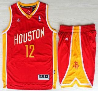 sports shoes cef78 c1cdb Houston Rockets #12 Dwight Howard Red Throwback Revolution ...