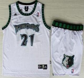 Minnesota Timberwolves  21 Kevin Garnett White Hardwood Classics Revolution  30 Jersey Short 4b81357ae