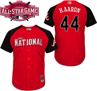 National League Atlanta Braves #44 Hank Aaron Red 2015 All-Star Game Player Jersey