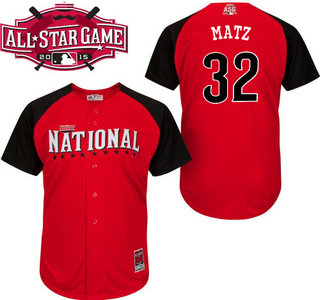 National League New York Mets #32 Steven Matz Red 2015 All-Star Game Player Jersey