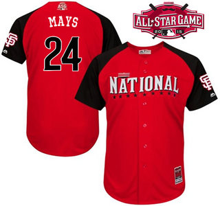 d6590c54 National League San Francisco Giants #24 Willie Mays Red 2015 All-Star Game  Player